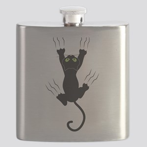 Cat Scratching Flask