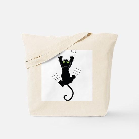 Cat Scratching Tote Bag