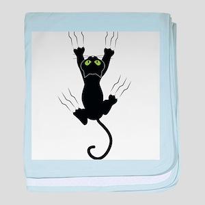 Cat Scratching baby blanket