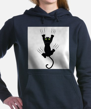 Cat Scratching Women's Hooded Sweatshirt