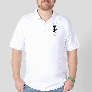 Cat Scratching Golf Shirt