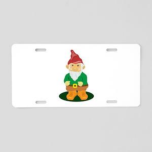 Lawn Gnome Aluminum License Plate