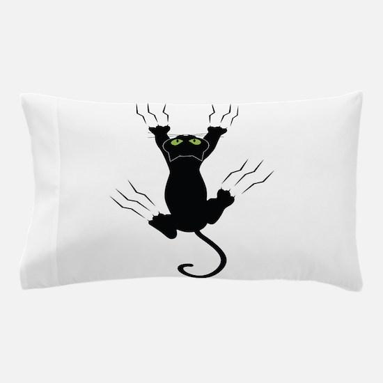 Cat Scratching Pillow Case