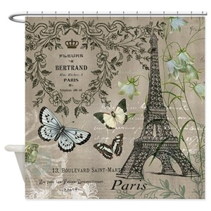 French Vintage Shower Curtains
