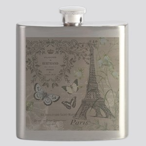 Vintage French Eiffel Tower Flask