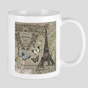Vintage French Eiffel Tower Mugs