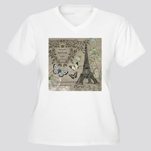 Vintage French Eiffel Tower Plus Size T-Shirt