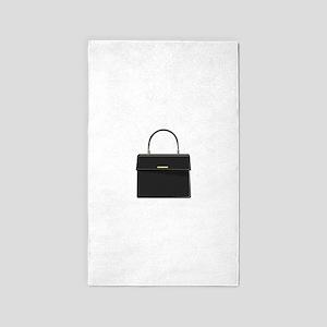 Black Handbag Purse 3'x5' Area Rug