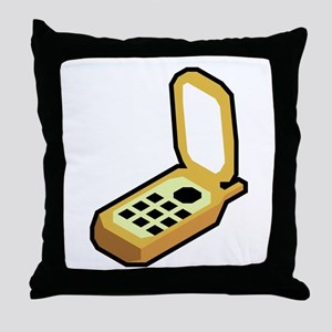 Cartoon Cell Phone Throw Pillow