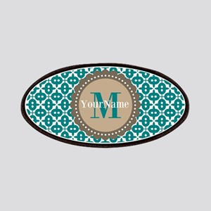 Teal Seamless Pattern Monogram Patches