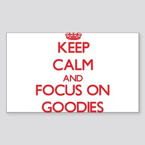 Keep Calm and focus on Goodies Sticker