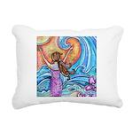 Beach Girl Wave Hawaii Rectangular Canvas Pillow