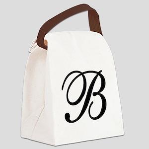 INITIAL B MONOGRAM Canvas Lunch Bag