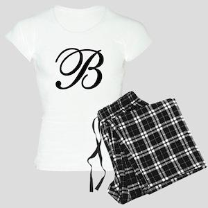 INITIAL B MONOGRAM Women's Light Pajamas