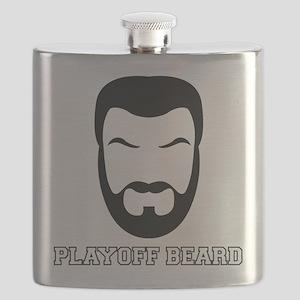 Playoff Beard Metal Flask