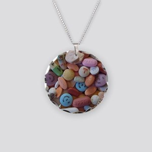 Pile of Pills Necklace Circle Charm