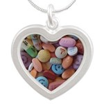 Pile of Pills Silver Heart Necklace