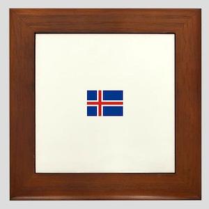 iceland flag Framed Tile