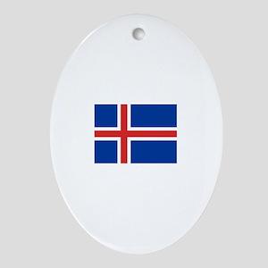 iceland flag Oval Ornament