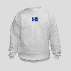 iceland flag Kids Sweatshirt