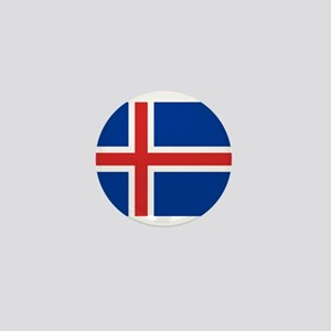 iceland flag Mini Button
