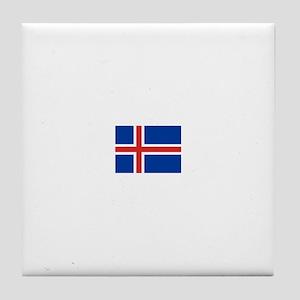iceland flag Tile Coaster