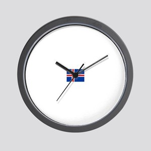 iceland flag Wall Clock