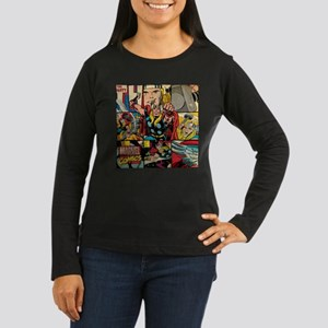 Thor Collage Women's Long Sleeve Dark T-Shirt