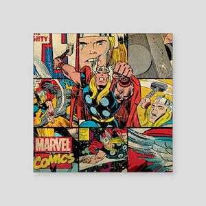 "Thor Collage Square Sticker 3"" x 3"""