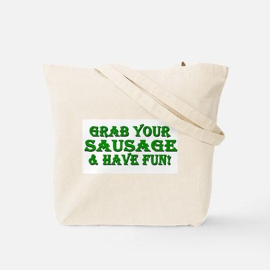 Oktoberfest Grab Sausage 2014 Tote Bag