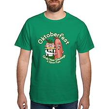 Oktoberfest Grab Sausage 2014 Dark T-Shirt
