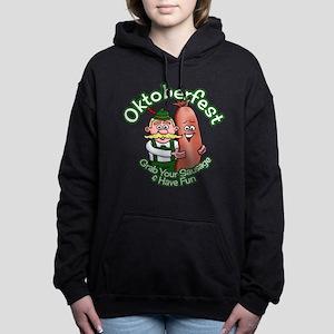 Oktoberfest Grab Sausage Women's Hooded Sweatshirt