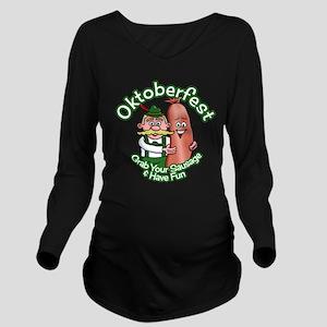 Oktoberfest Grab Sau Long Sleeve Maternity T-Shirt