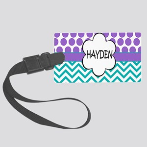 Hayden Lavender Turquoise Large Luggage Tag
