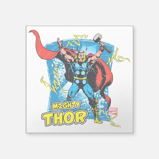 """Mighty Thor Square Sticker 3"""" x 3"""""""