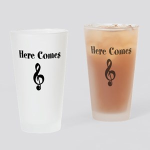 Here Comes Treble Drinking Glass