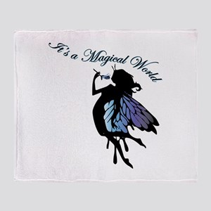 Its a Magical World Throw Blanket