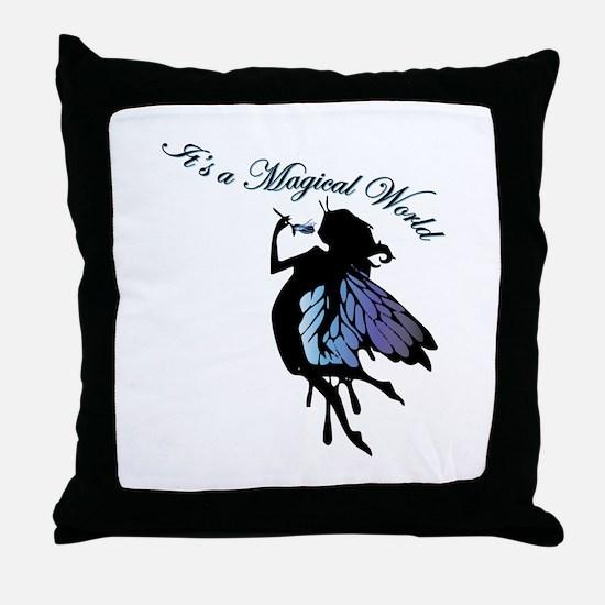 Its a Magical World Throw Pillow