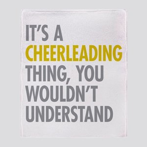 Its A Cheerleading Thing Throw Blanket