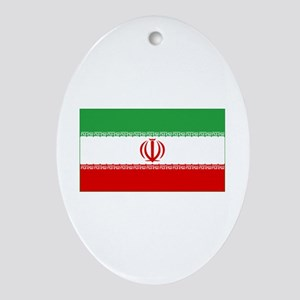 iran flag Oval Ornament