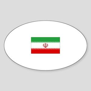 iran flag Oval Sticker