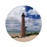 Little Sable Lighthouse Round Ornament