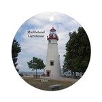 Marblehead Lighthouse Round Ornament