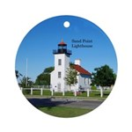 Sand Point Lighthouse Round Ornament