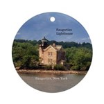 Saugerties Lighthouse Round Ornament