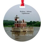 Hudson Athens Lighthouse Round Ornament
