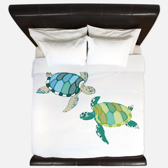 Sea Turtles King Duvet
