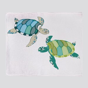 Sea Turtles Throw Blanket