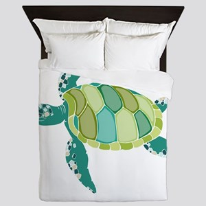 Green Sea Turtle Queen Duvet