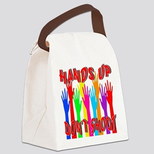 Hands Up Don't Shoot Canvas Lunch Bag